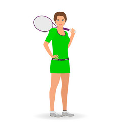 sport people concept tennis woman vector image