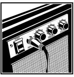 guitar amplifier symbol vector image vector image
