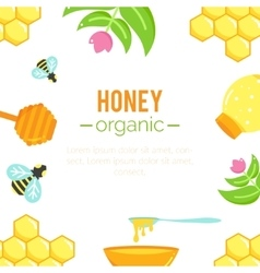 Honey background natural organic elements vector