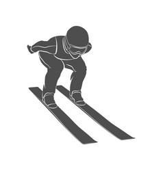 jumping skier sport vector image