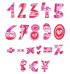 love numbers vector image