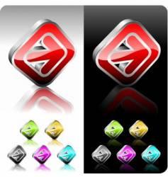 shiny color button set vector image