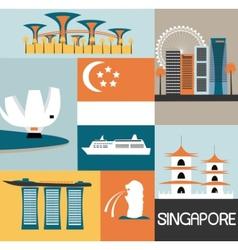 Symbols of Singapore vector image vector image