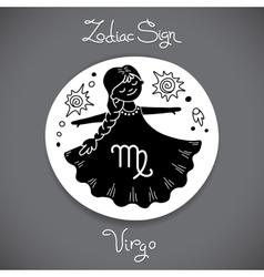 Virgo zodiac sign of horoscope circle emblem in vector image vector image