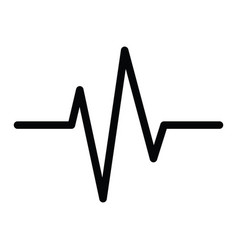 a heartbeat icon with simple life wave line vector image