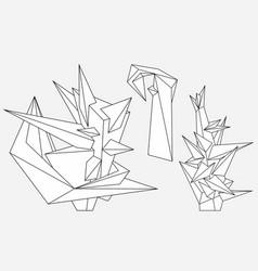 abstract geometric modern asymmetric forms vector image