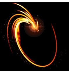 Abstract glow background with fire shape vector image