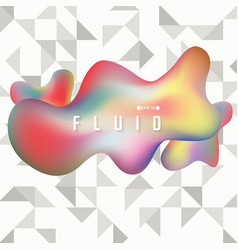 abstract of colorful fluid shape background on vector image