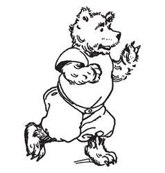 Baby bear vintage vector