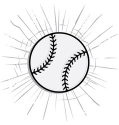 Baseball or softball with shattered background vector