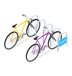 bicycle parking concept vector image