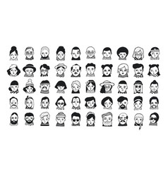 Big set of people avatars for social media vector