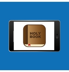 big smartphone black holy bible online icon vector image