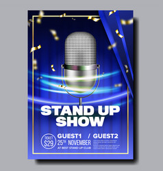 Bright banner of stand up show in club vector