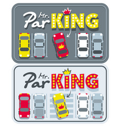 Car bumper sticker mr parking vector