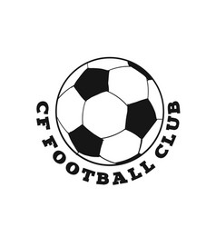 cf football club football background image vector image