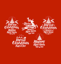christmas xmas logo or label holiday vector image