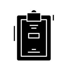 clipboard black icon concept vector image