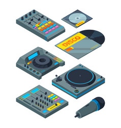 Dj isometric tools various instruments for vector