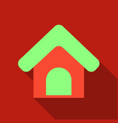doghouse icon style designed for web and software vector image