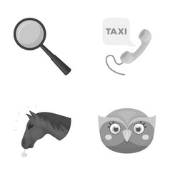 Education animal and other monochrome icon in vector