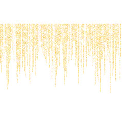 falling in lines gold glitter confetti dots vector image