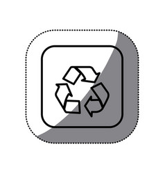 figure symbol recycle icon vector image