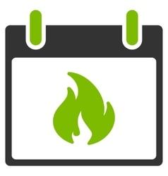 Flame Calendar Day Flat Icon vector image