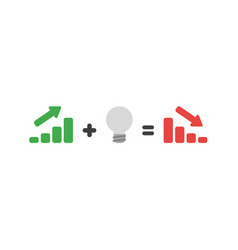 flat design concept of sales bar chart moving up vector image