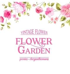 Floral card Blooming Garden vector