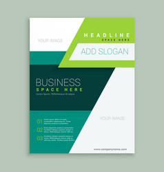 Flyer brochure design in a4 size for your business vector
