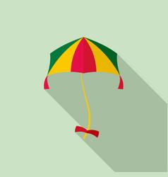 girl kite icon flat style vector image