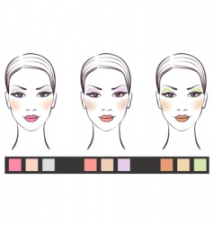 Girl's face with makeup vector