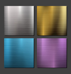 Gold bronze silver steel metal abstract vector