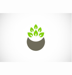 Green organic nature logo vector