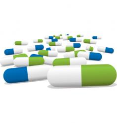 green pills vector image