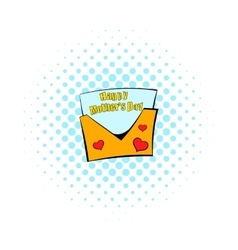 Greeting card for Mother Day icon comics style vector image