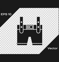 Grey lederhosen icon isolated on transparent vector