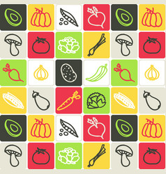 hand drawn icons set - food 4 vector image