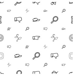 Hand icons pattern seamless white background vector