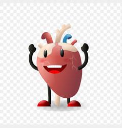 Heart human internal organ realistic character vector