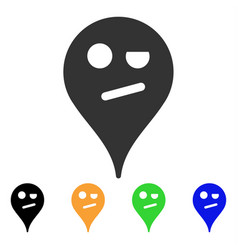 Infidelity smiley map marker icon vector