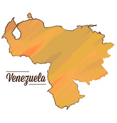 isolated venezuelan map vector image