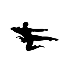 Karate black silhouette vector image