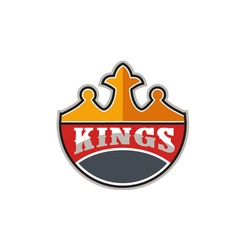 King Crown Kings Retro vector
