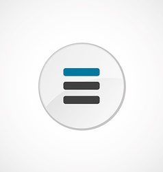 List icon 2 colored vector