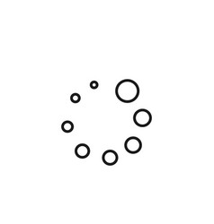 Loading reload isolated dotty icon vector