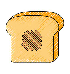 loaf slice icon vector image