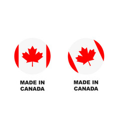 made in canada sign vector image