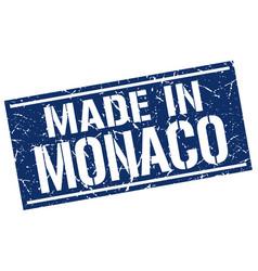Made in monaco stamp vector